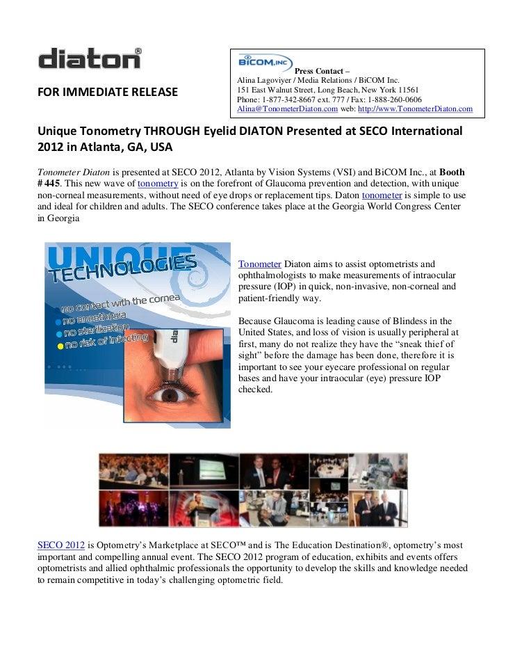 Press Contact –                                                 Alina Lagoviyer / Media Relations / BiCOM Inc.FOR IMMEDIAT...