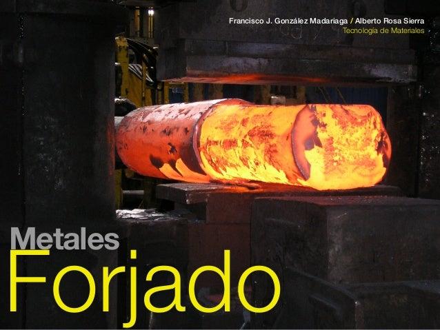 Forjado Francisco J. González Madariaga / Alberto Rosa Sierra Tecnología de Materiales Metales