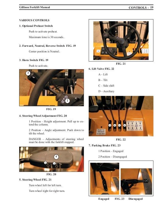 Fork Lift Controls : Forklift manual