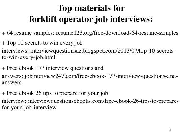 Forklift Operator Resume Sample Pdf Ebook Free Download