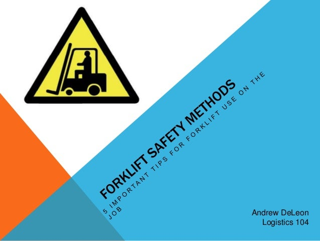 Andrew DeLeon  Logistics 104
