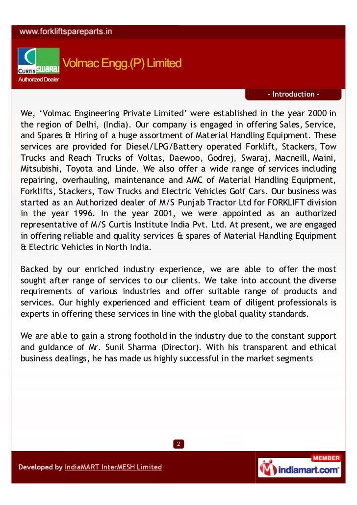 Volmac Engg P Limited New Delhi Curtis Controller