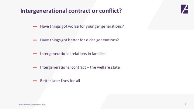 what is intergenerational conflict