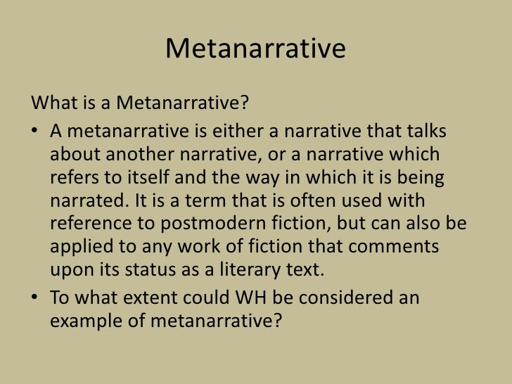 Metanarrative - YouTube