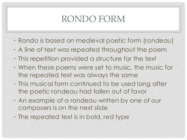 writing a rondeau poem form
