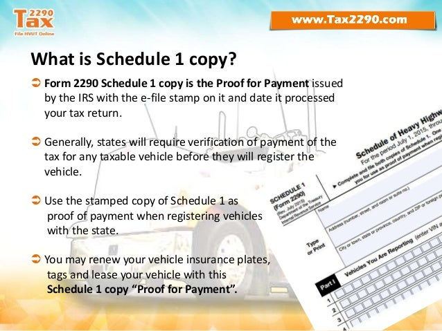 Form 2290 - the IRS Heavy Vehicle Use Tax
