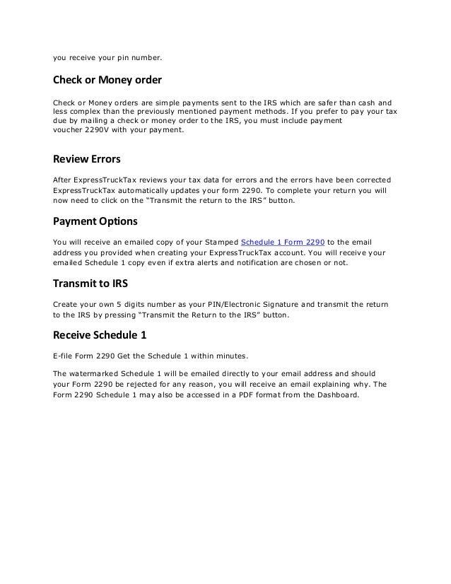 E File Form 2290 Bruceianwilliams