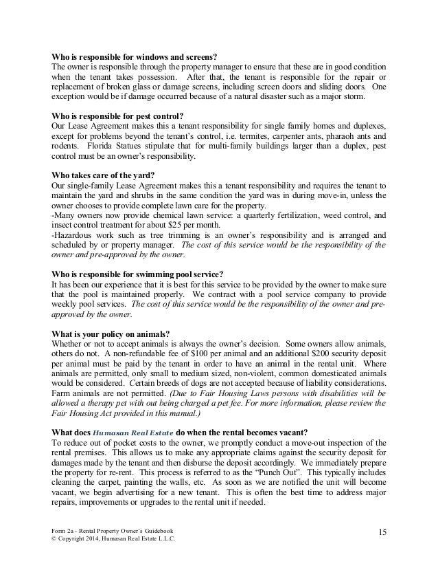 Humasan Real Estate Rental Property Owner Guidebook