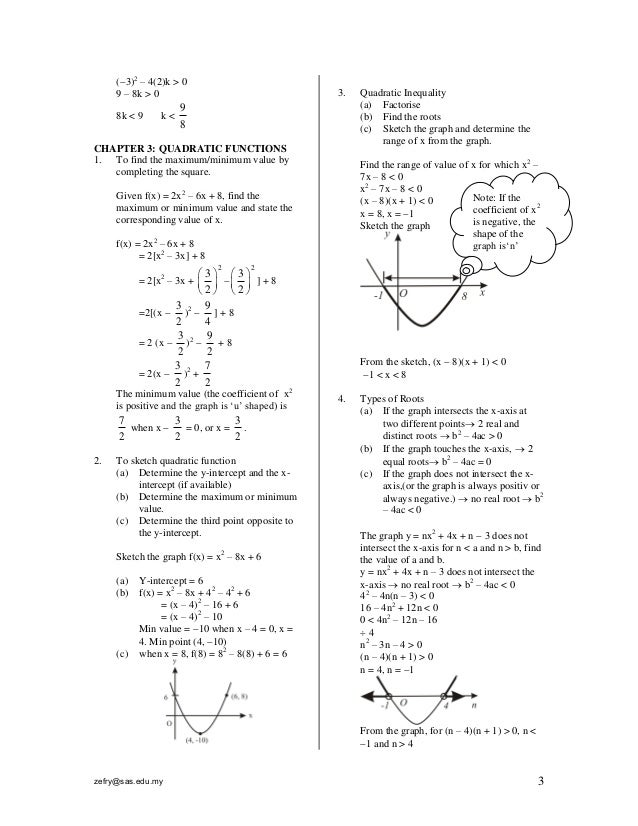 Form 4 add maths note