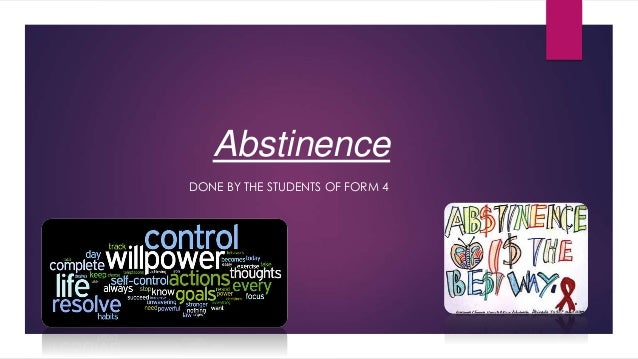 Emotional benefits of sexual abstinence