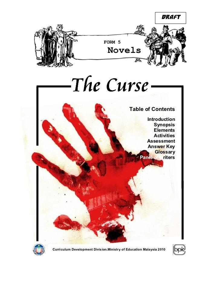 DRAFT                              FORM 5                                Novels           The Curse                       ...
