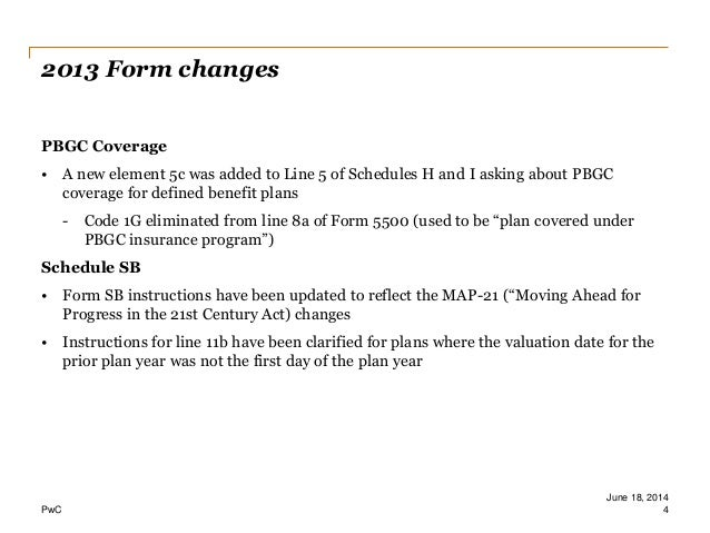Form 5500 update 06.16.14