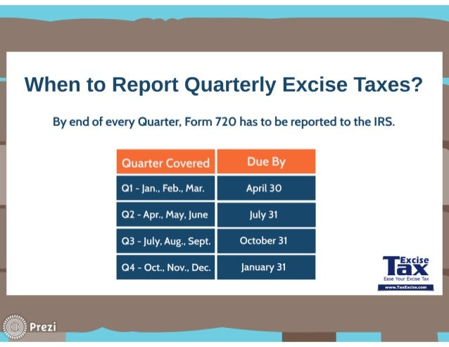 Form 720 Efile Quarterly Federal Excise Tax Returns