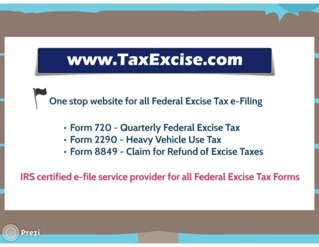 Form 720 quarterly federal excise tax returns online Slide 3