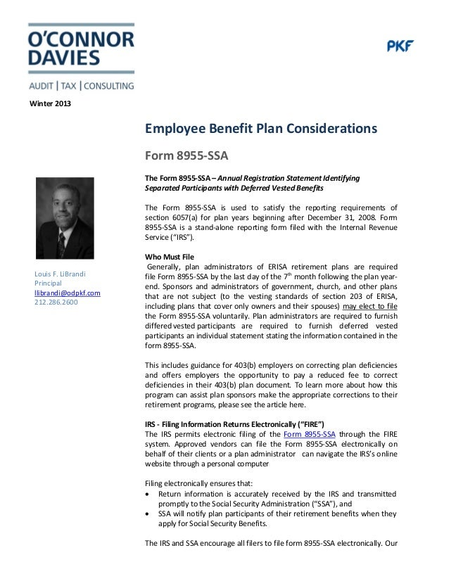 Irs Form 8955 Ssa Images Free Form Design Examples