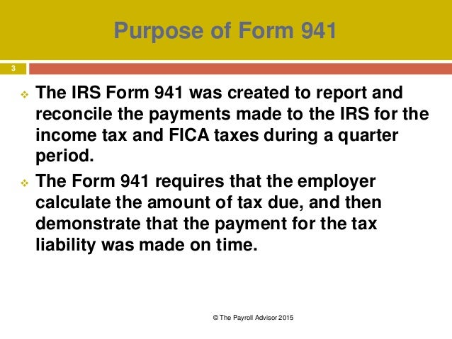 Form 941 For 2015 All You Need To Know