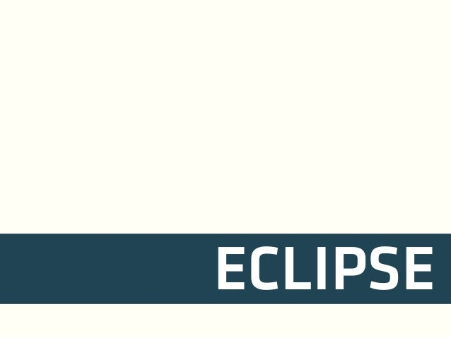 Training: Day Two - Eclipse, Git, Maven
