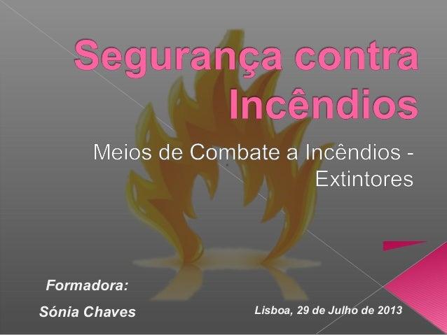 Lisboa, 29 de Julho de 2013 Formadora: Sónia Chaves