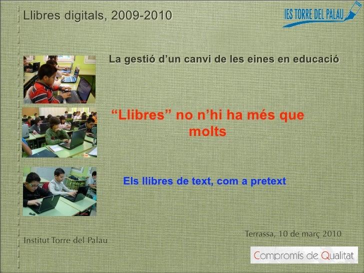 Formació a directius de centres educatius sobre llibres digitals a Terrassa