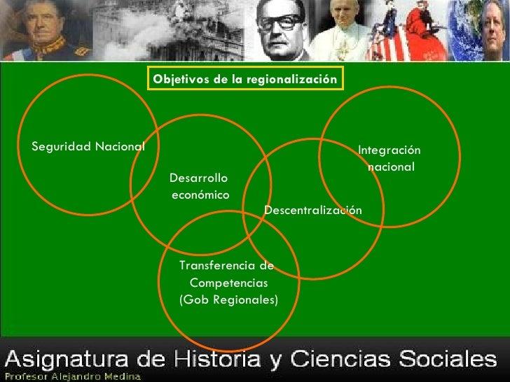 Objetivos de la regionalizaciónSeguridad Nacional                                     Integración                         ...