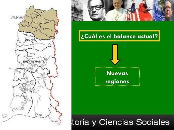 ¿Cuál es el balance actual?         Nuevas        regiones