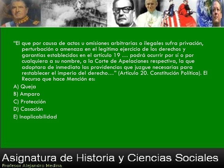 Es (son) característica (s) del régimen político chilenoI. constituir una democracia directa.II. permitir la existencia de...