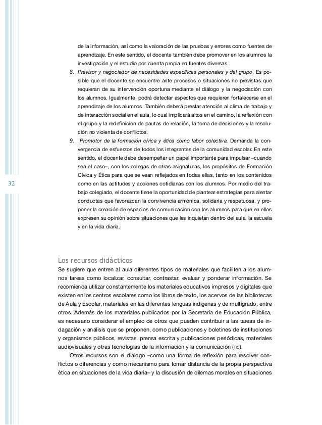 34 texto en que viven los alumnos y que demandan tomar decisiones individuales y colec- tivas, dialogar, negociar y establ...