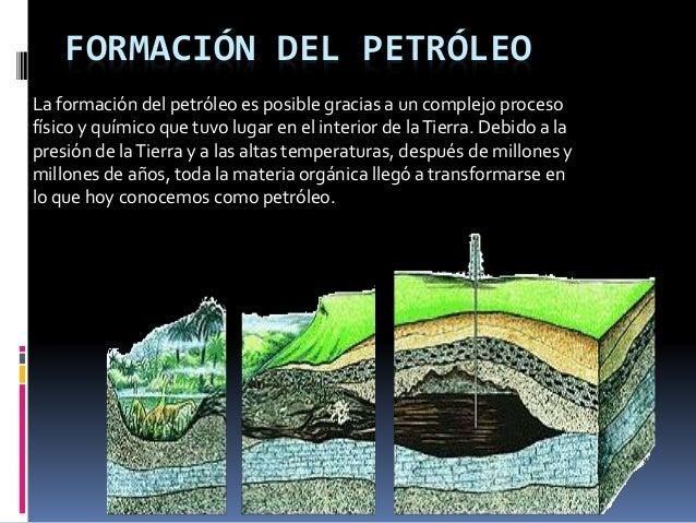 Formación del petróleo