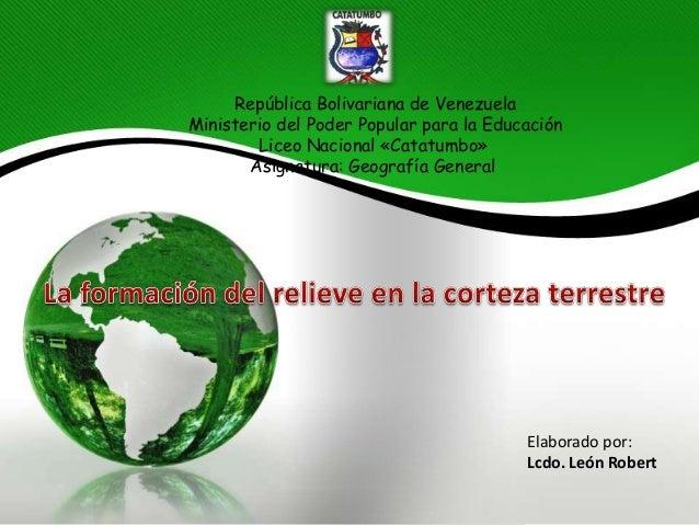 República Bolivariana de Venezuela Ministerio del Poder Popular para la Educación Liceo Nacional «Catatumbo» Asignatura: G...