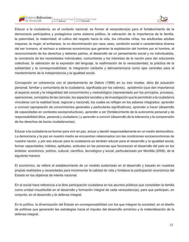 15 Gobierno de Venezuela Bolivariano Ministerio del Poder Popular parala Educación Ministerio del Poder Popular parala Def...