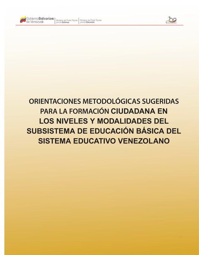 33 Gobierno de Venezuela Bolivariano Ministerio del Poder Popular parala Educación Ministerio del Poder Popular parala Def...