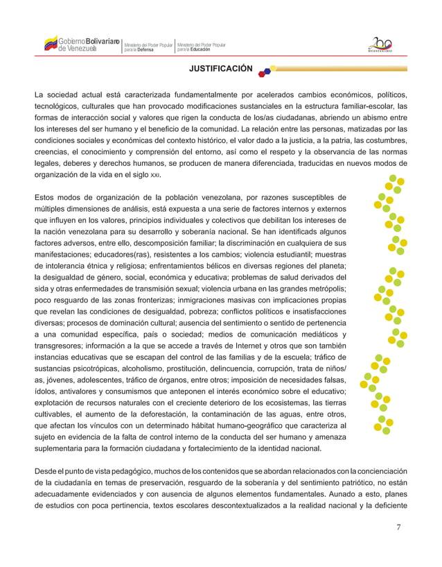 7 Gobierno de Venezuela Bolivariano Ministerio del Poder Popular parala Educación Ministerio del Poder Popular parala Defe...