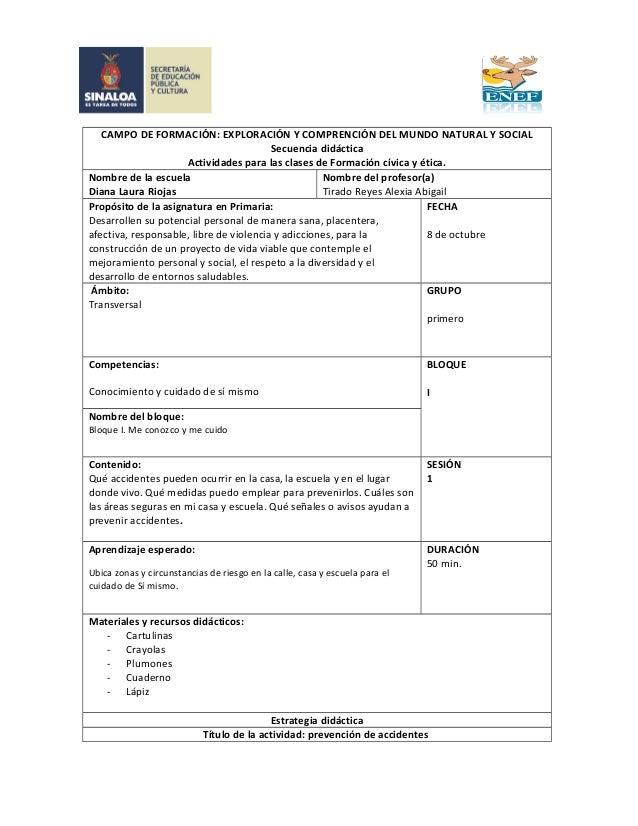 CAMPO DE FORMACIÓN: EXPLORACIÓN Y COMPRENCIÓN DEL MUNDO NATURAL Y SOCIAL  Secuencia didáctica  Actividades para las clases...