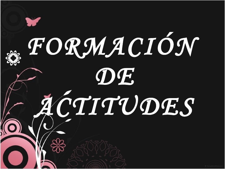 FORMACIÓN  DE  ACTITUDES