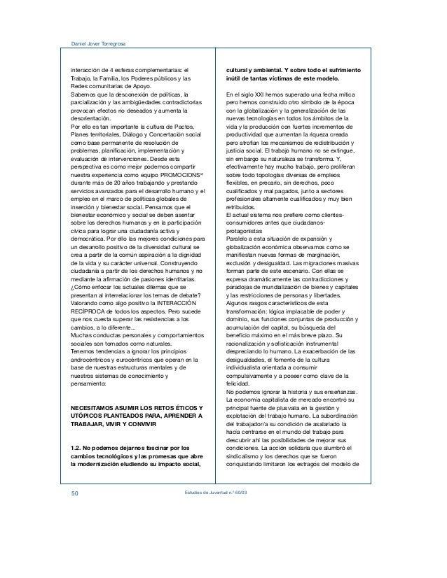 Daniel Jover Torregrosa  interacción de 4 esferas complementarias: el  Trabajo, la Familia, los Poderes públicos y las  Re...