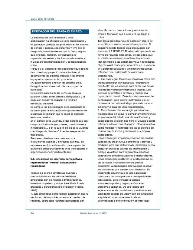 Daniel Jover Torregrosa  INNOVADOR DEL TRABAJO EN RED  La sociedad de la Información y de la  globalización ha alterado lo...