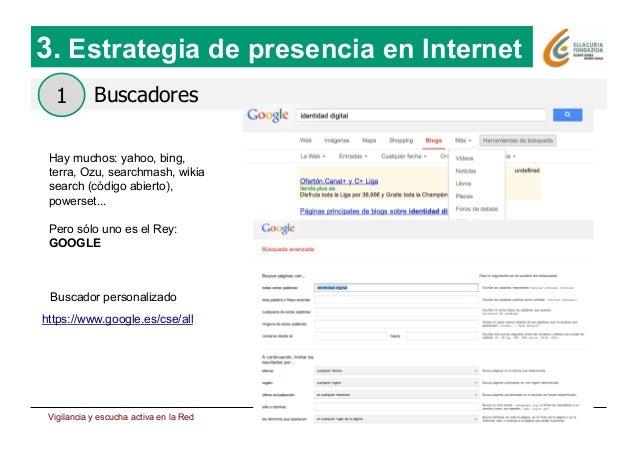 Estrategia de presencia en Internet 17 Buscadores 3. Estrategia de presencia en Internet 1 Hay muchos: yahoo, bing, terra,...