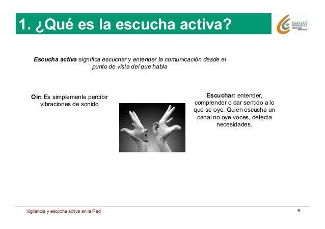 Estrategia de presencia en Internet 4 1. ¿Qué es la escucha activa? Escucha activa significa escuchar y entender la comuni...