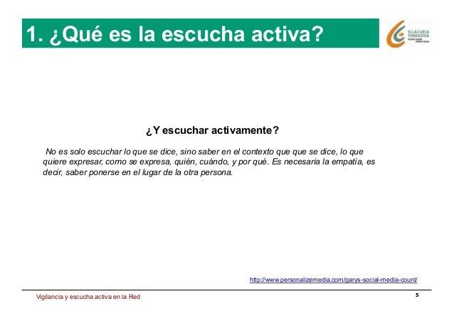 Estrategia de presencia en Internet 5 http://www.personalizemedia.com/garys-social-media-count/ 1. ¿Qué es la escucha acti...