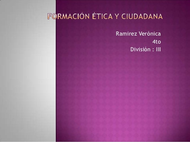 Ramirez Verónica              4to     División : III