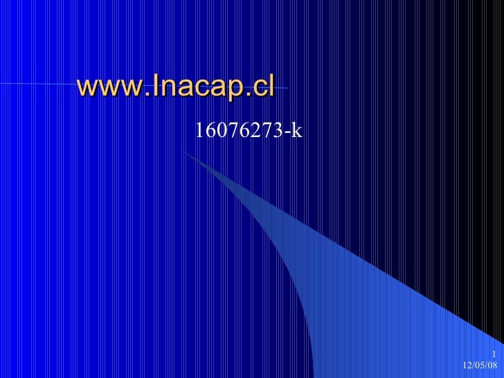 www.Inacap.cl 16076273-k