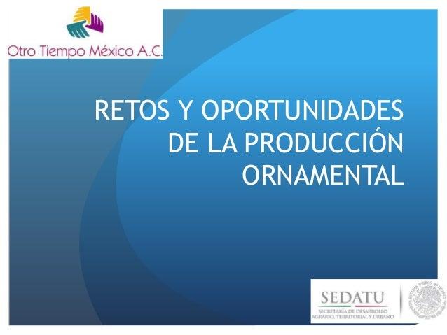 RETOS Y OPORTUNIDADES DE LA PRODUCCIÓN ORNAMENTAL