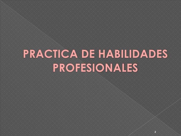 Formador ocupacional 4º (práctica de habilidades profesionales) Slide 2