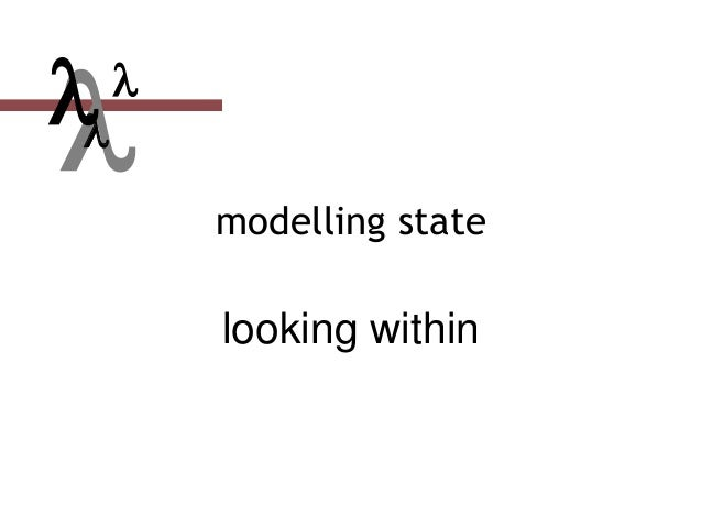  modelling state looking within  