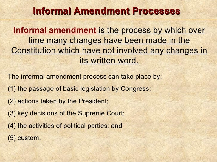 Formal amendments
