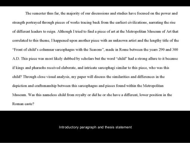 thesis statement for art analysis