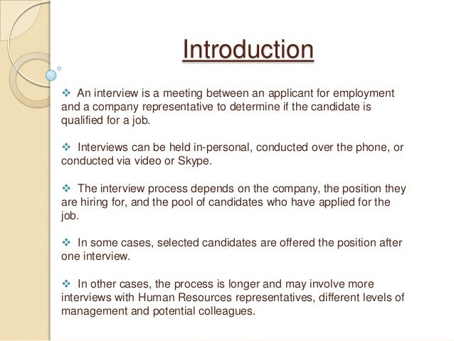 contoh introduce myself for interview