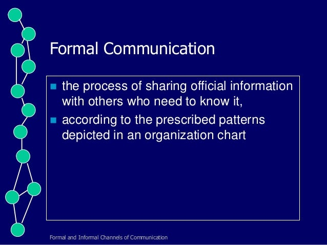 formal and informal communication pdf