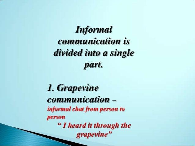 formal and informal communication