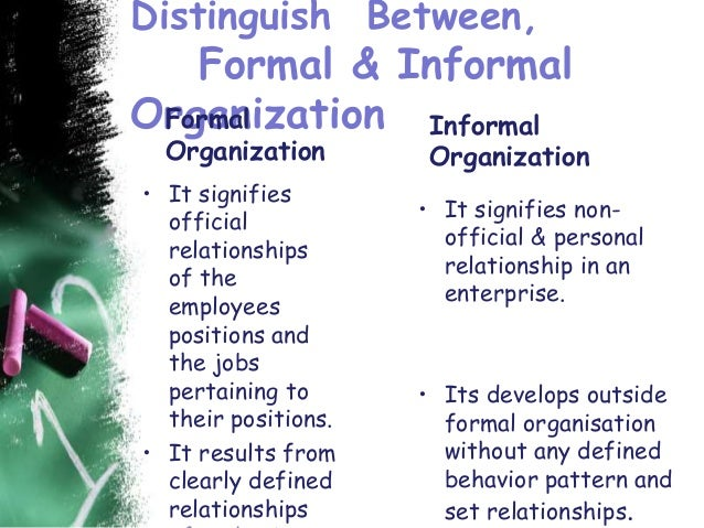 formal and informal relationship in business